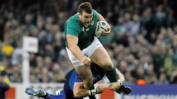 Ireland's Jack McGrath in action against France.