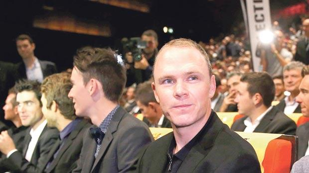 Title holder Chris Froome, of Great Britain, at the presentation of the 2017 Tour de France itinerary, in Paris, yesterday.