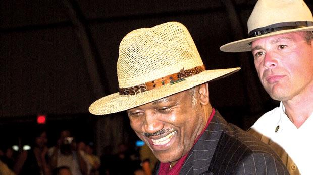 A picture taken last June shows Joe Frazier making his way through the crowd at the Turning Stone Casino, New York.