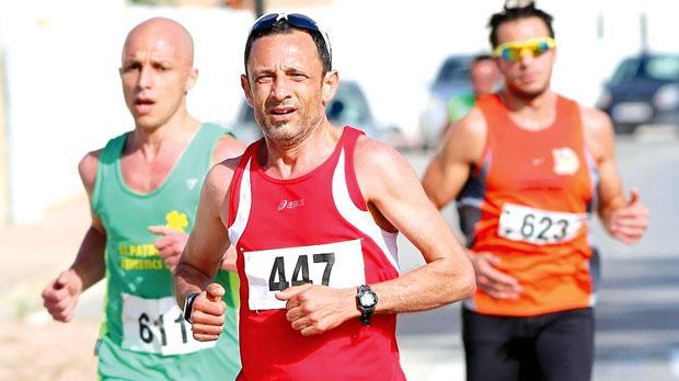 Evergreen... Veteran runner Charles Cilia (no.447) was declared winner of the Masters Road Race in Marsascala, last weekend. Photo: Wally Galea