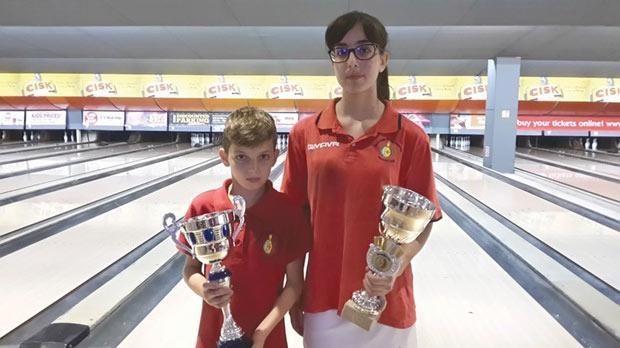 MTBA Silver Cup winners Shadon Psaila and Michaela Briffa.