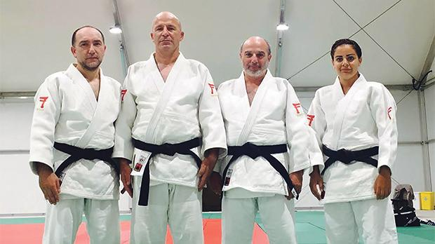 The four judokas to represent Malta at the World Kata Championships next month.