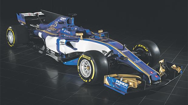 The Sauber C36-Ferrari that was unveiled yesterday.