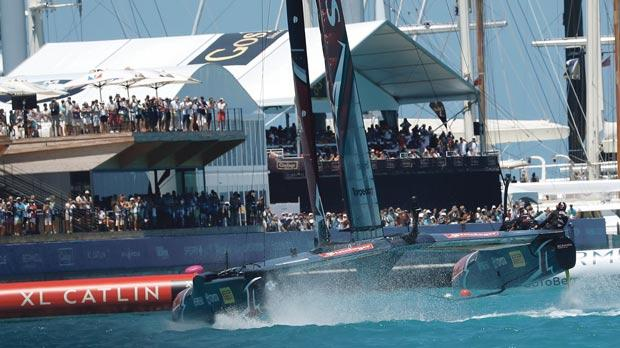 Sailing-New Zealand pedal their way to brink of America's Cup victory