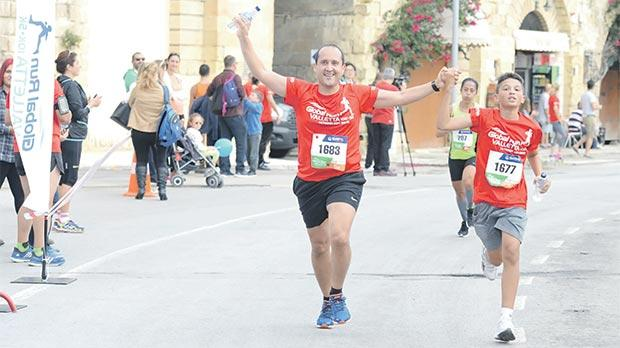 The Global Run Valletta attracted participants of all ages.