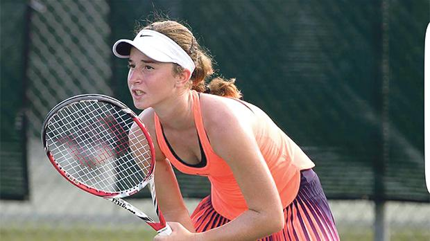 Young Maltese player Helene Pellicano is looking to make more inroads in her tennis career.