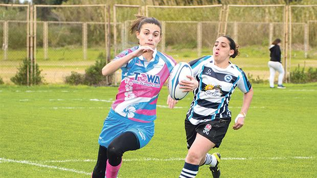 Action from last weekend's Women's Sevens league matches at the Marsa Sports Ground. Photo:Ian Aquilina