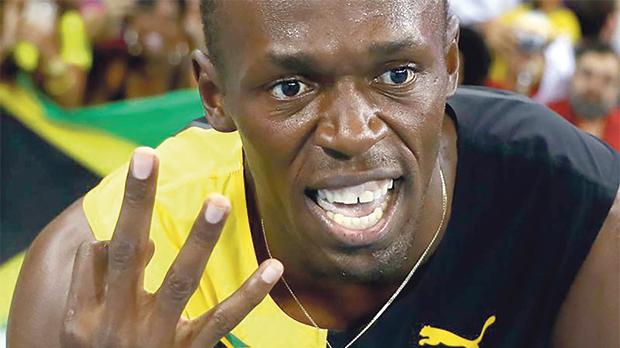 Usain Bolt's 'treble treble' was dented after team-mate's doping.