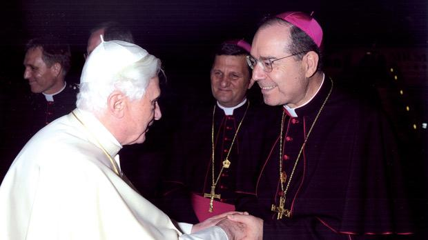 Mgr Caputo with Pope Benedict XVI.