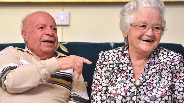 Mgr Charles Scicluna's parents Emanuel and Carmena. Photo: Jason Borg