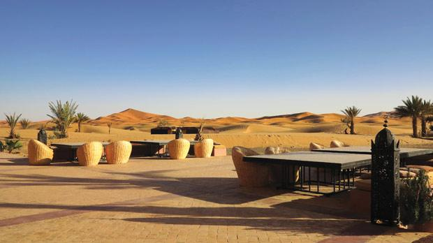 Hotel luxury seems at odds with the barren Sahara.