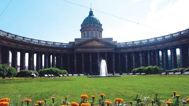 The cathedral dedicated to the miraculous icon of Our Lady of Kazan was turned into a Museum of Atheism in Stalin's time.