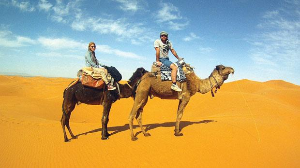 Stephen and his friend get the hump on holiday.