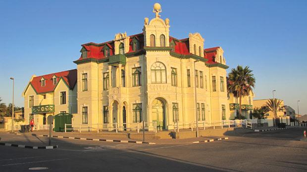 Imposing German architecture in Swakopmund.