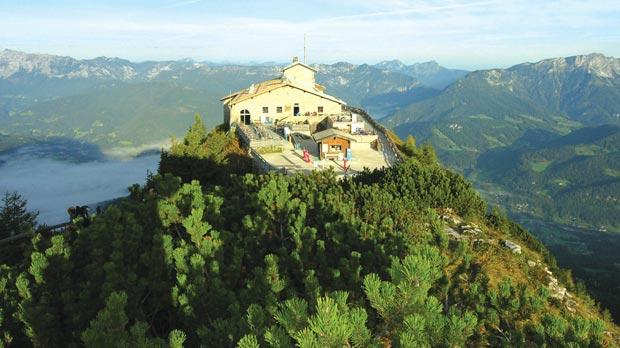 The Kehlsteinhaus, formerly known as Hitler's Tea House or Eagle's Nest, a mountain top lodge near the Berghof, the favourite residence of German dictator Adolf Hitler on the Obersalzberg mountain near Berchtesgaden, Germany. Photo: Bayerisches Landesamt Fuer Denkmalpflege, Huber 2010/AFP