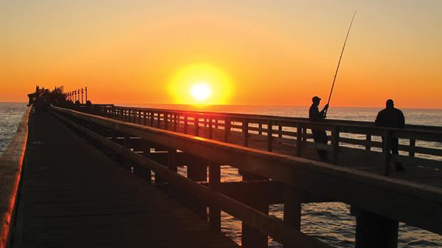 Leisurely fishing in Swakopmund. Photos: Stephen Bailey
