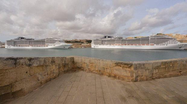 MSC Preziosa and MSC Fantasia berthed in Grand Harbour last week, bringing between them 8,000 passengers in one day.