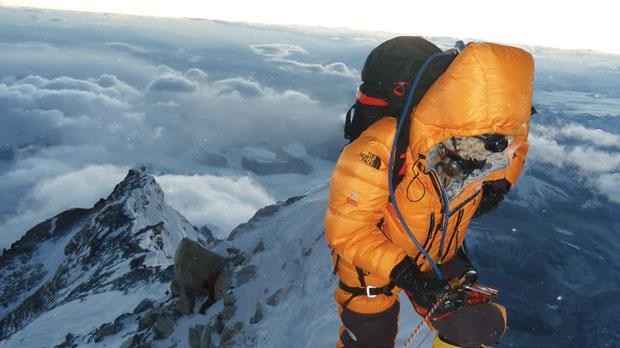 On the ascent to Mt Everest.
