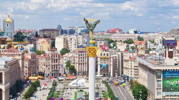 Maidan Nezalezhnosti square was the centre point of celebrations for independence in 1991.