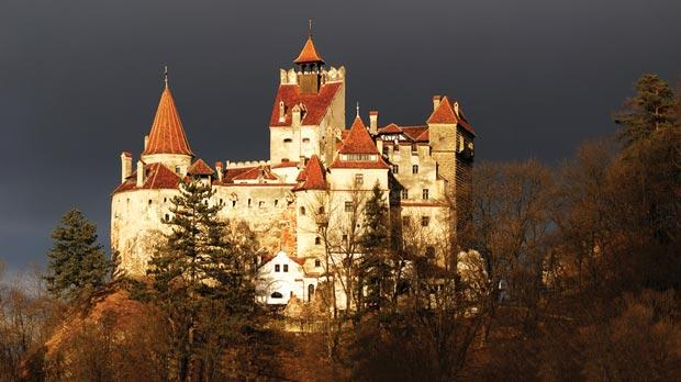 Castle Bran in Transylvania, which has been used in the filming of various Dracula films.