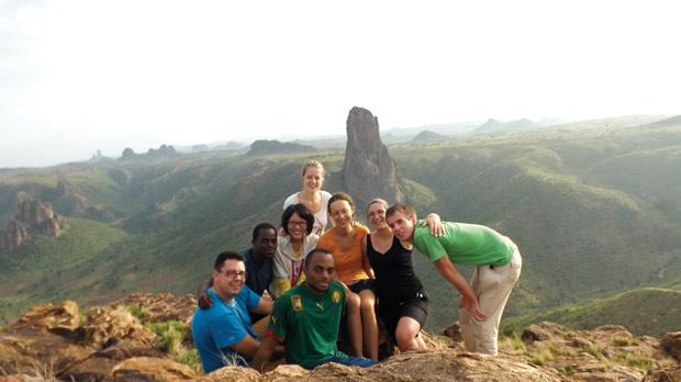 Louise Camilleri (second from right) on her eight-week placement in Cameroon.