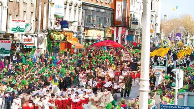 St Patrick's Day festivities in Dublin last year. Photo: Reji Sasidharan