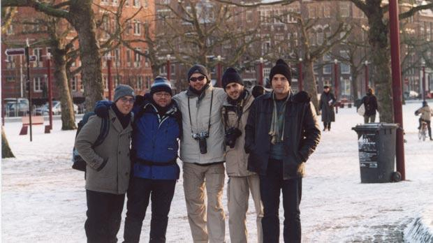 Fakawi braving the temperatures in Amsterdam.