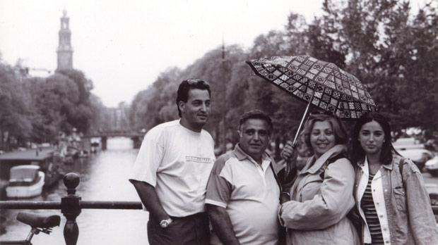 Pawlu's favourite photo of his family in Amsterdam.