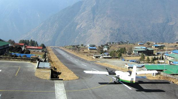 Most flights to and from Lukla are in the morning when visibility is usually best. Photo: Dominica and Evan Miller