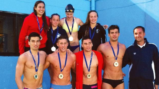 Top row (left to right Charis Ceccarelli, Francesca Falzon Young, Nicola Muscat and Amy Micallef. Bottom row: Andrew Chetcuti, Matthew Galea, Gabriel Dimech and Raoul Stafrace.