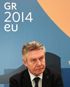 EU trade chief Karel De Gucht in Athens yesterday. Photo: Reuters