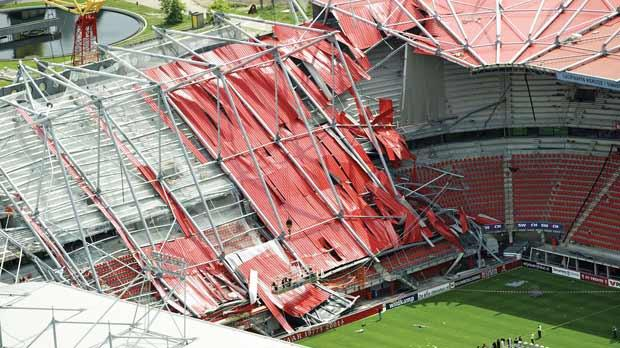 One Killed And 14 Injured As Dutch Stadium Roof Collapses