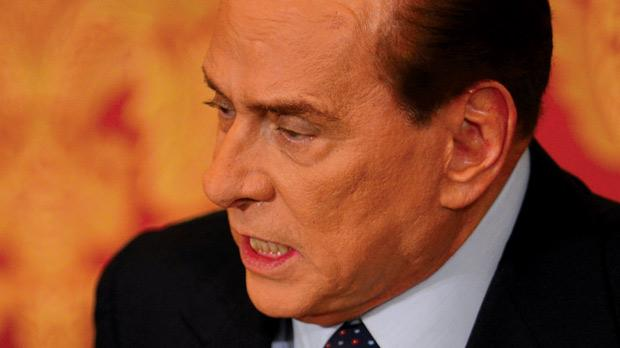 Silvio Berlusconi at his residence, Villa Gernetto in Lesmo, near Monza, on Saturday. Photo: AFP