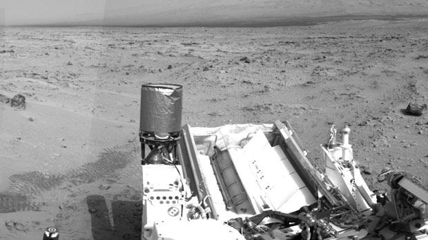 A panoramic image of Mars taken by Curiosity's navigation camera on its 100th Martian day, or sol, on November 16.