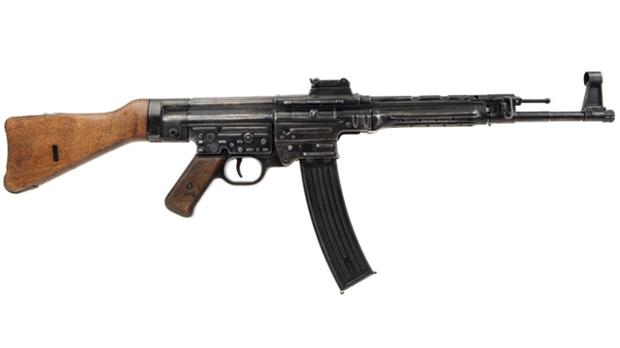 A rare German MP44 rifle.