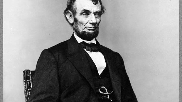 The 16th President of the United States, Abraham Lincoln (1809 – 1865).
