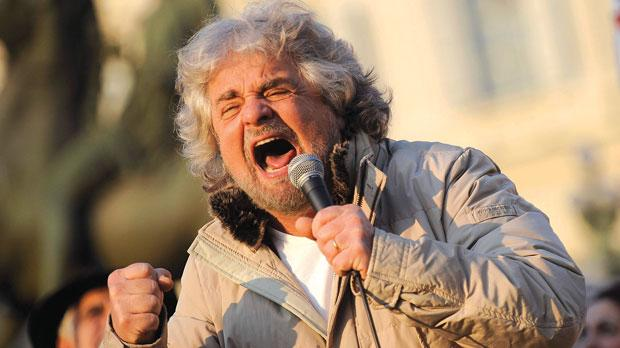 5-Star Movement leader and comedian Beppe Grillo