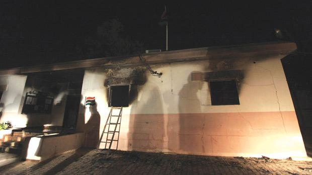 The US Consulate in Benghazi was set on fire by militants on September 11, 2012, killing Ambassador Christopher Stevens.