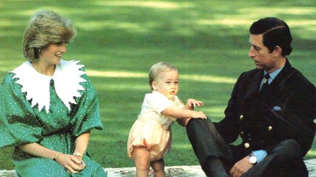 Flashback: Diana and Charles with William.
