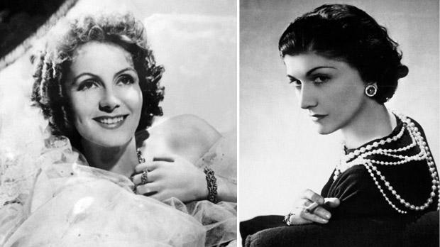 Greta Garbo(above) and Coco Chanel (right) were both Antoni Cierplikowski's clients.