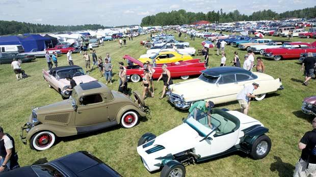 American Cars On Show In Sweden