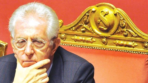 A very powerful Neapolitan firework is dedicated to Italian Prime Minister Mario Monti.