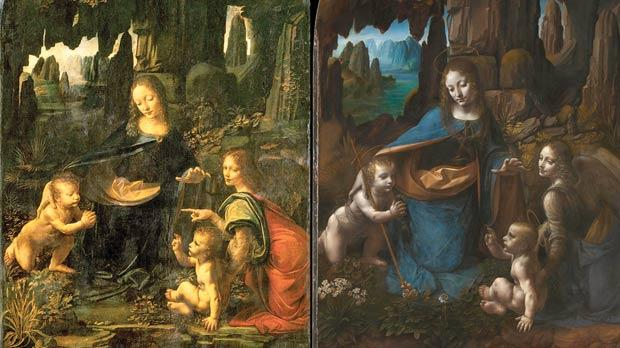 Among the nine paintings that will be on show in London are Leonardo da Vinci's two versions of the Virgin of the Rocks, which will hang face to face for the first time.